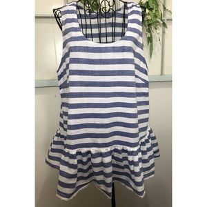 Beach Lunch Lounge Striped Blouse